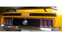 Trunk lid stripe, -70 Ford Mustang Mach 1
